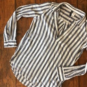 Stripped H&M shirt - navy white and pale pink